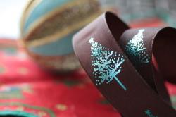 フランス製クリスマスリボン